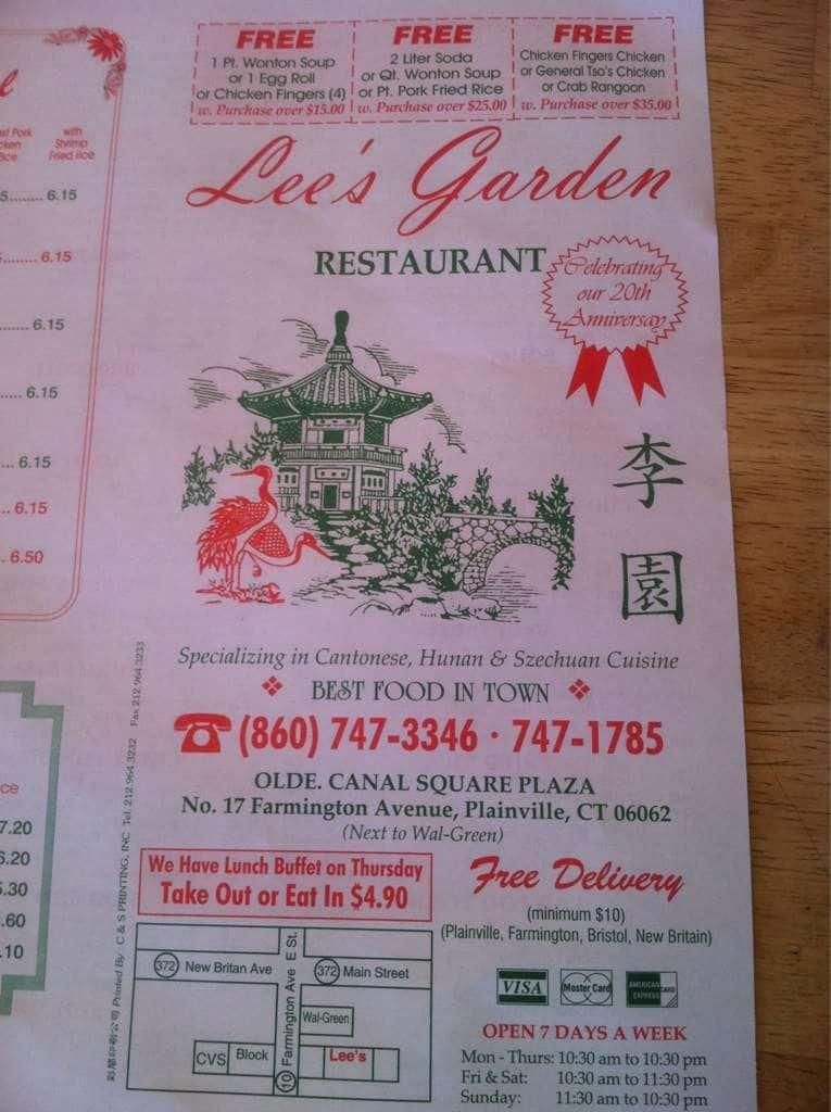 Lee S Garden Kitchen Menu Urbanspoon Zomato