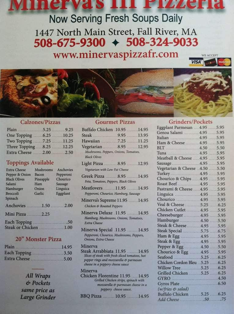Minerva S Iii Menu Menu For Minerva S Iii Fall River New Bedford