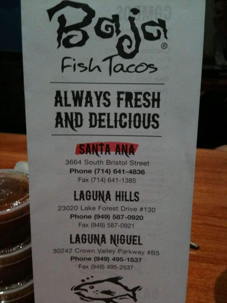 Baja Fish Tacos Men Baja Fish Tacos Santa Ana Orange