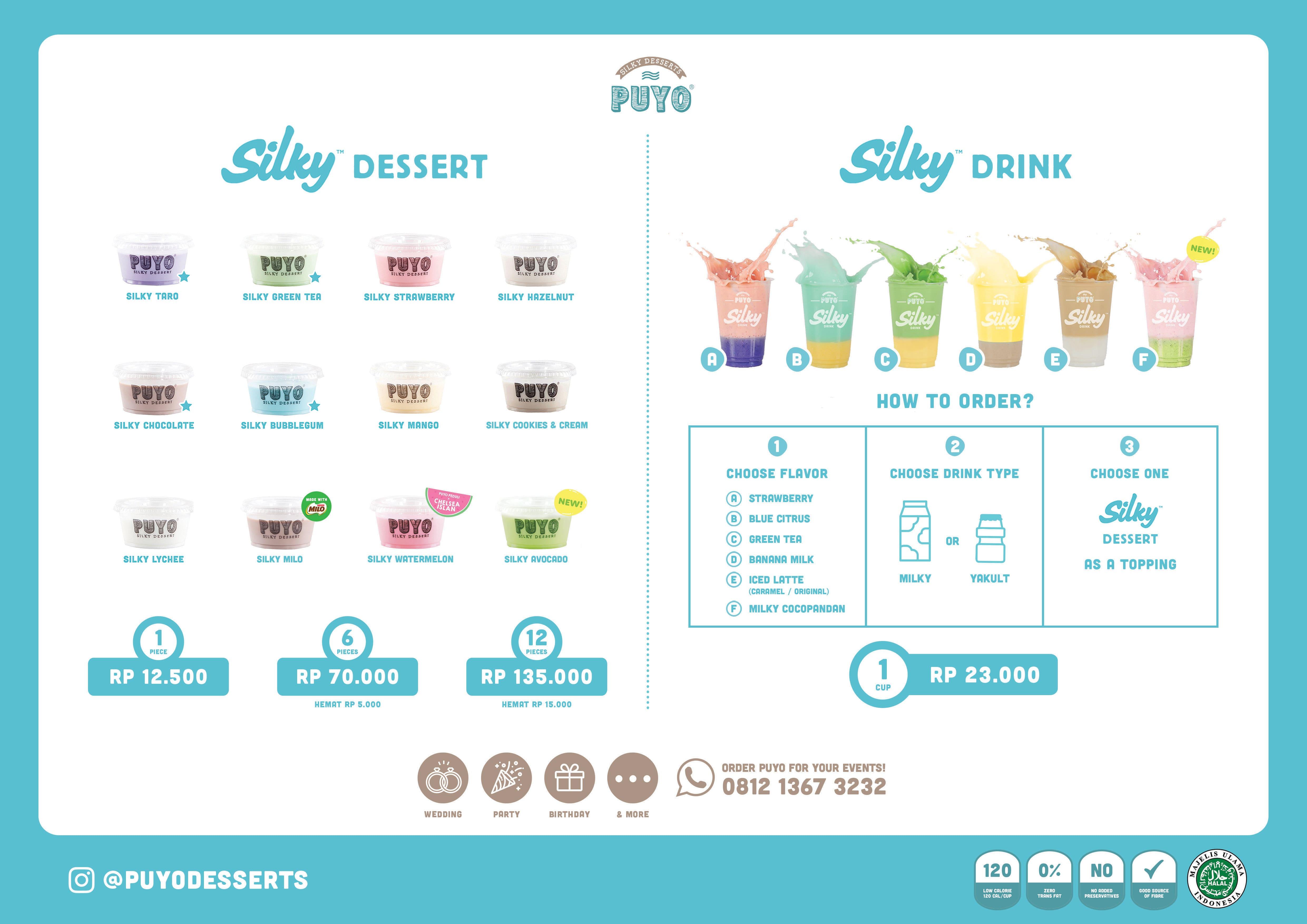 Puyo Silky Desserts Menu, Menu for Puyo Silky Desserts, Pasir Koja ...