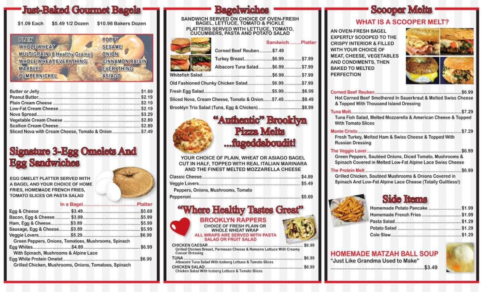 The Original Brooklyn Water Bagel Co Delray Beach Menu