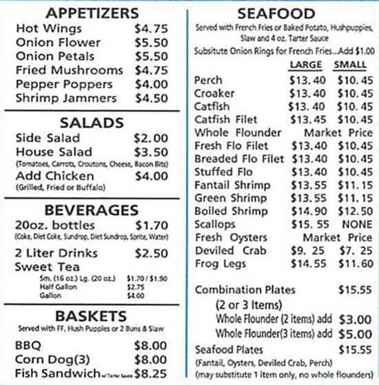 long creek fish fry menu menu for long creek fish fry