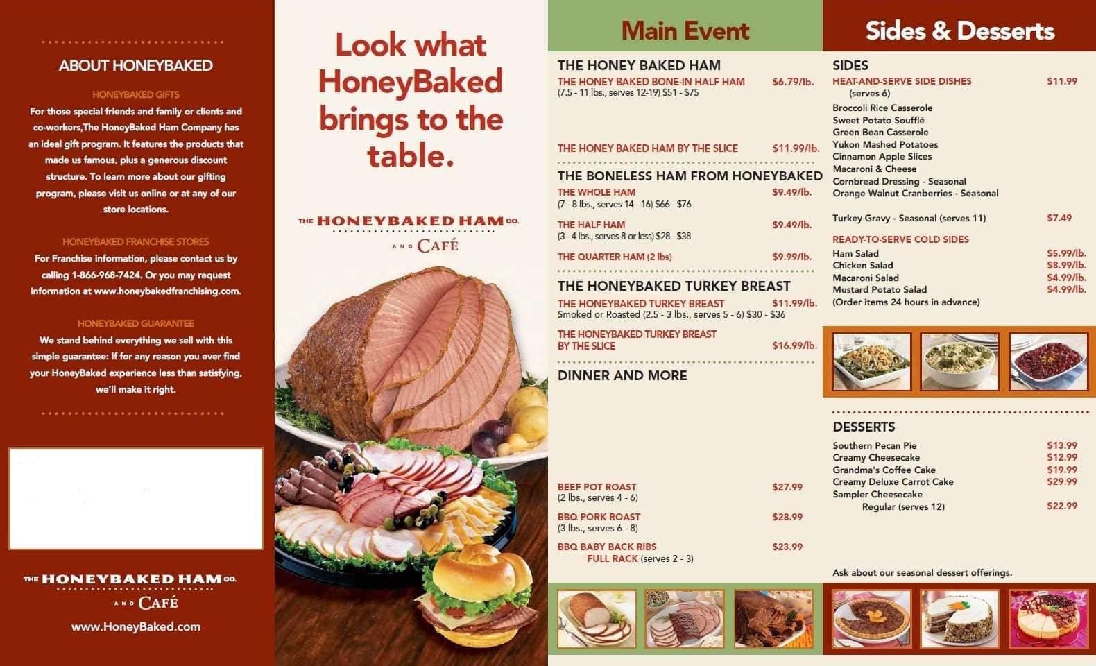 Ham company - Honeybaked Ham Company Cafe Broad Ripple Menu