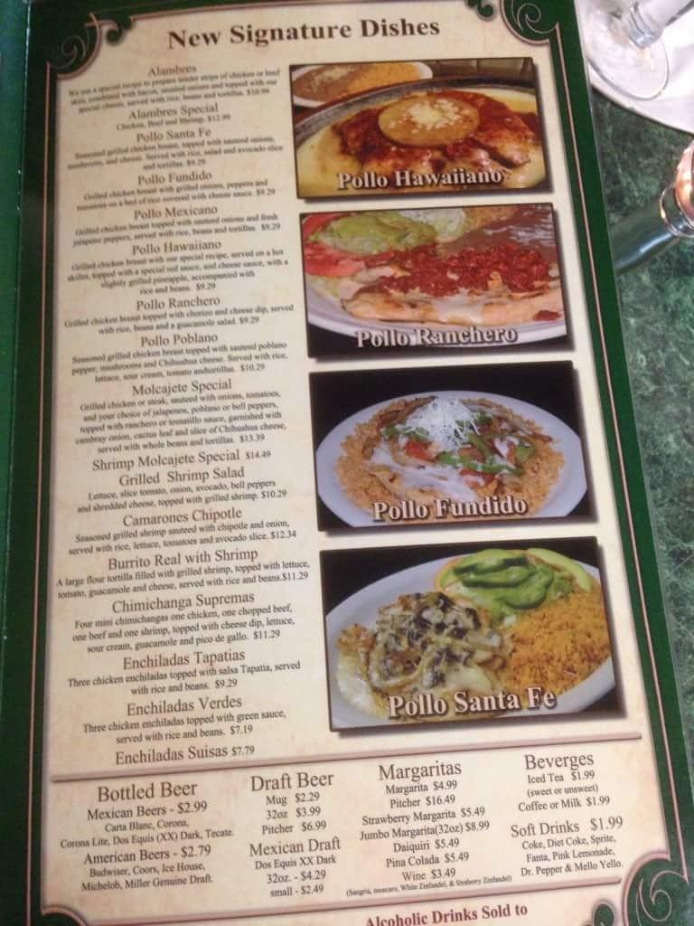 Menu at Fiesta Ranchera restaurant, McMinnville, 504 N