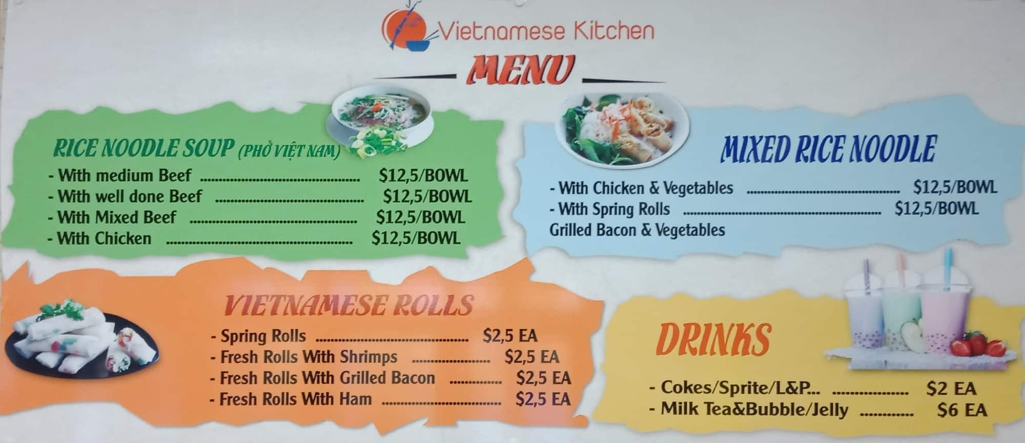 Vietnamese Kitchen Menu, Menu for Vietnamese Kitchen, Hamilton ...