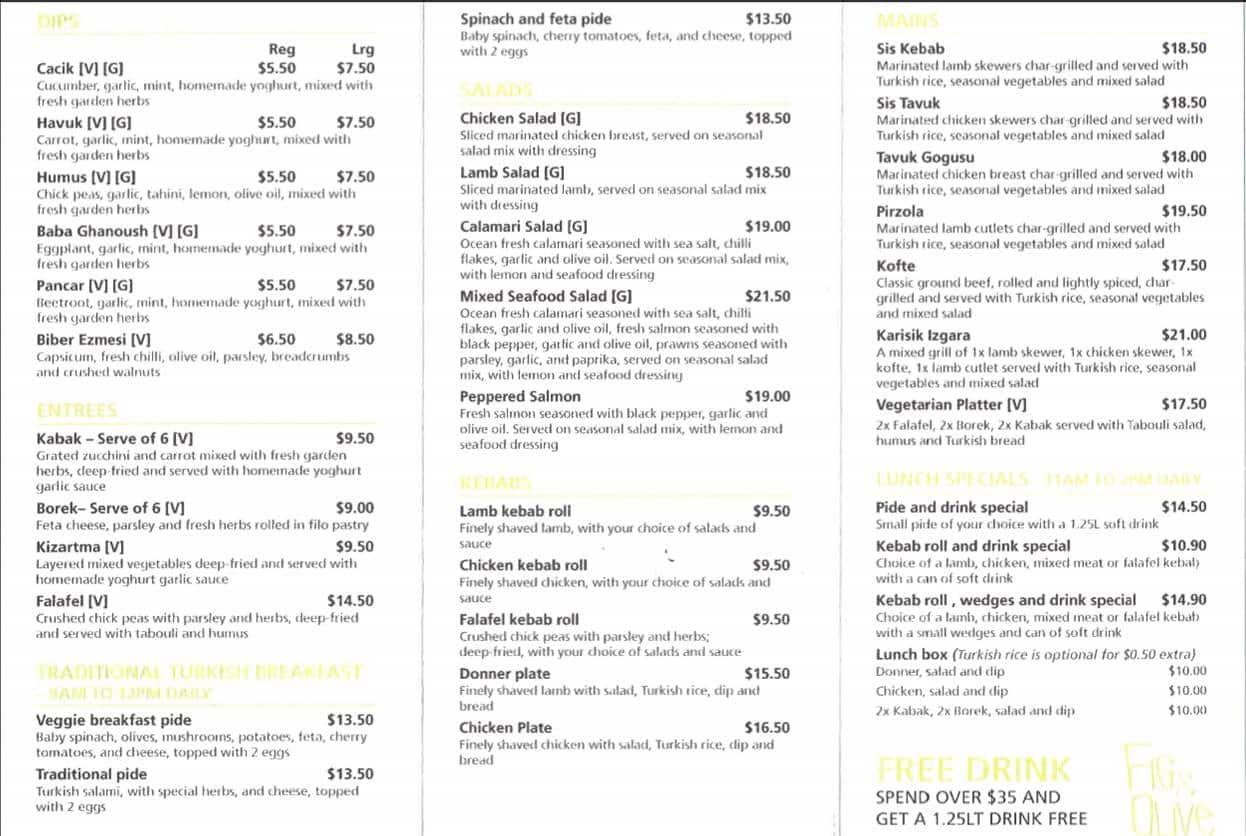 Olive Cafe Hours