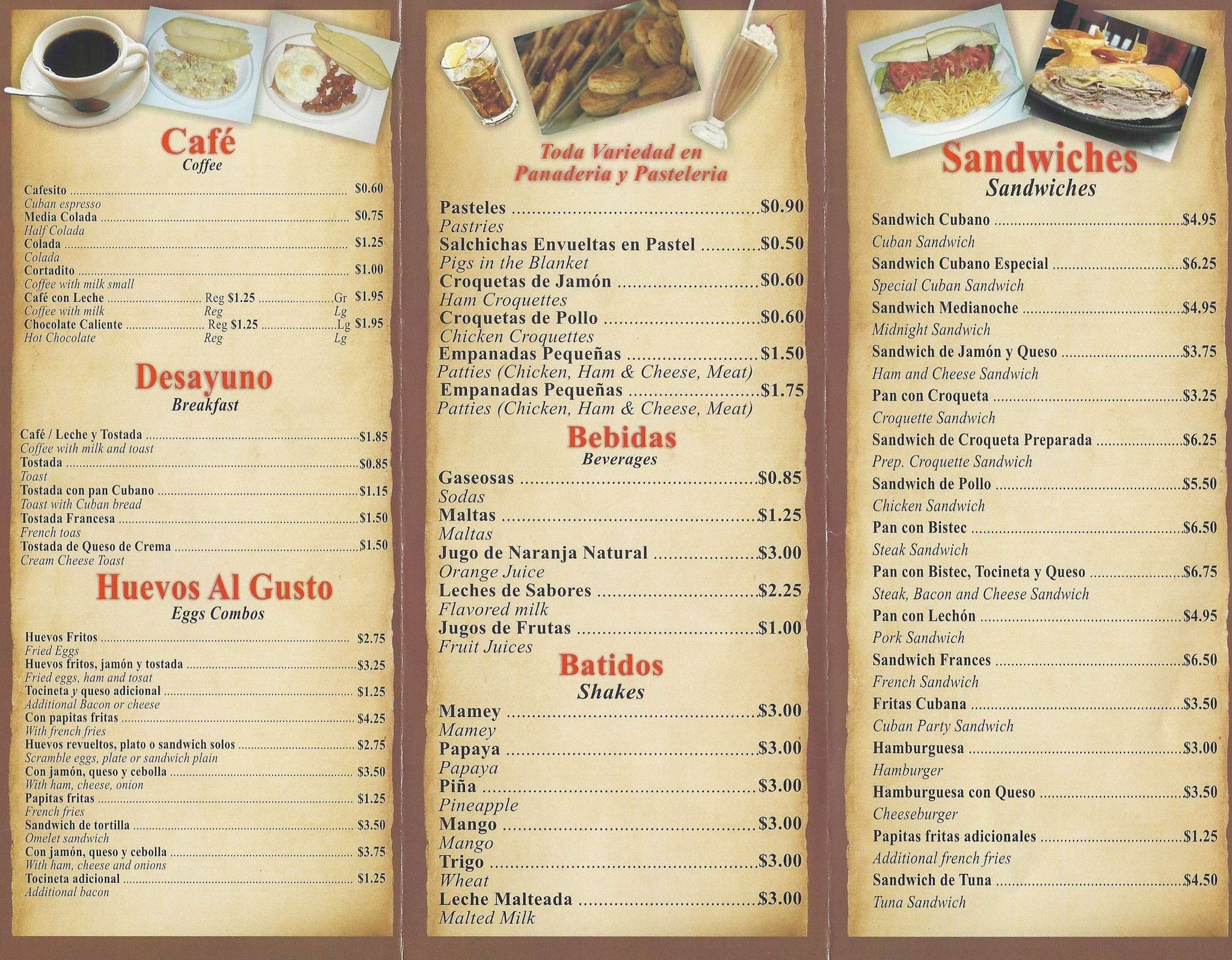 Arianna bakery cafeteria hialeah miami urbanspoonzomato scanned menu for arianna bakery amp cafeteria thecheapjerseys Images