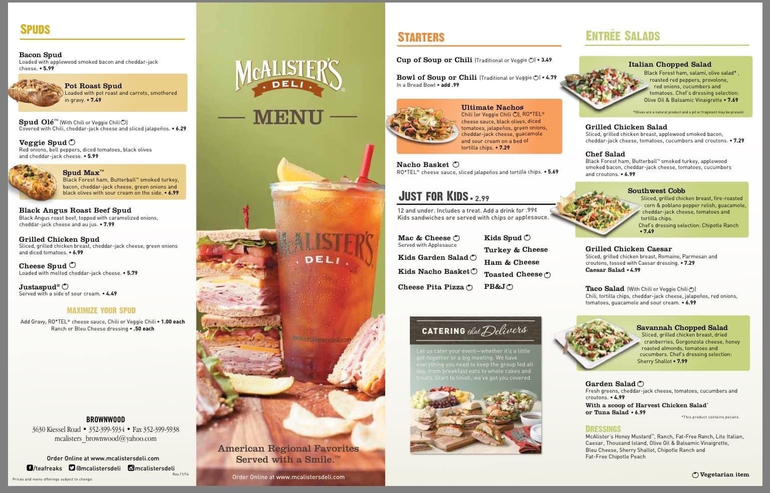 Lucrative image with mcalisters deli printable menu