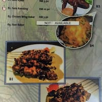 Scanned Menu For Dapur Jawa Klasik