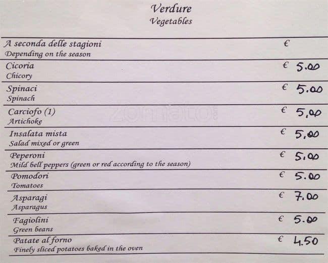 Fiori 4 Stagioni.La Pollarola Menu Menu For La Pollarola Campo De Fiori Roma