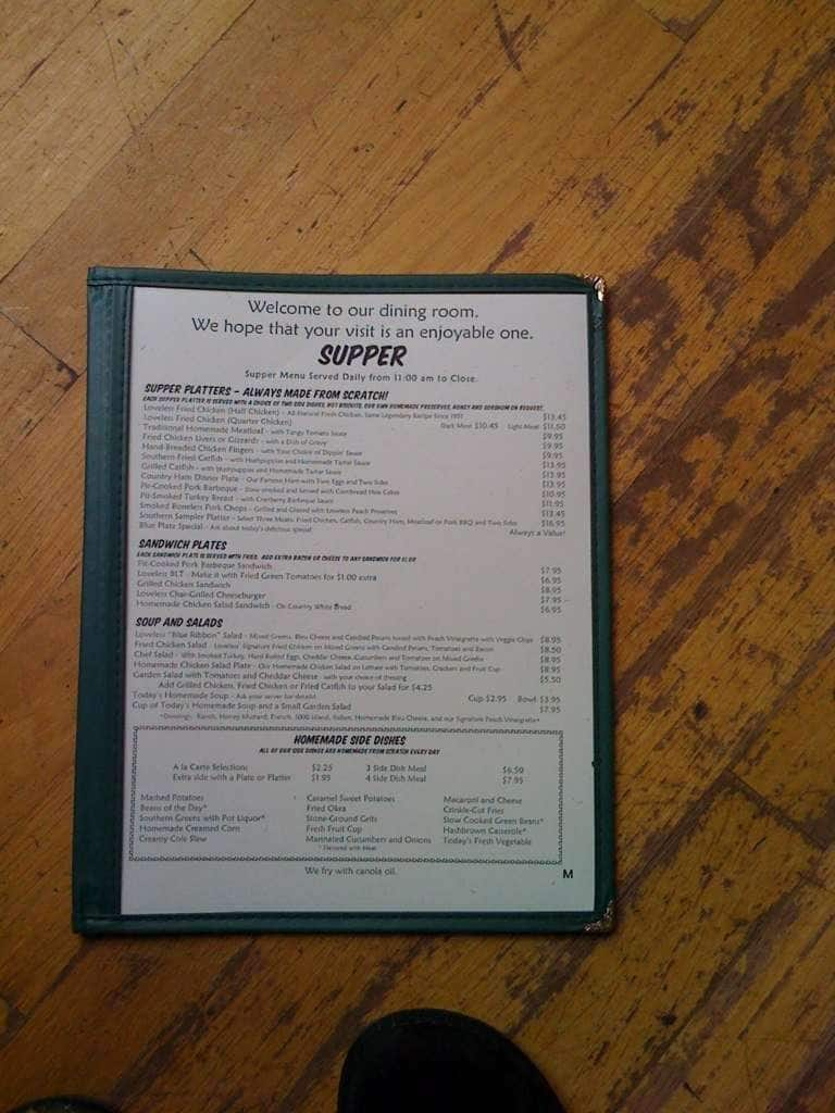 Loveless Cafe Menu With Prices