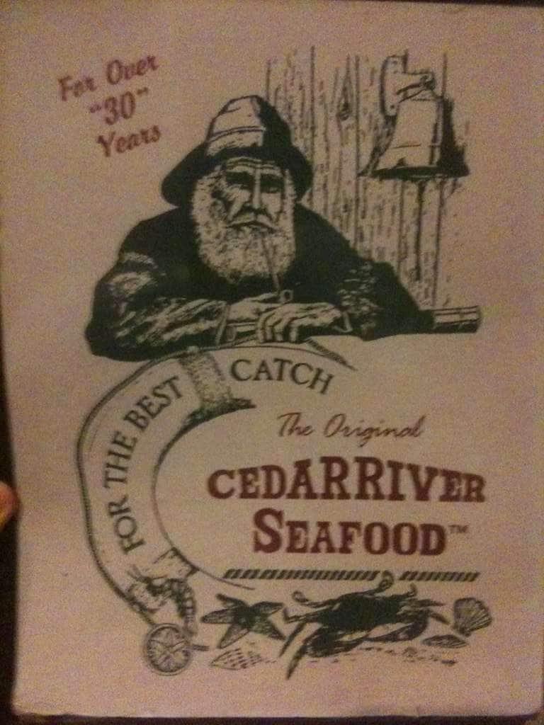 Cedar River Seafood Menu, Menu for Cedar River Seafood, Lake City ...