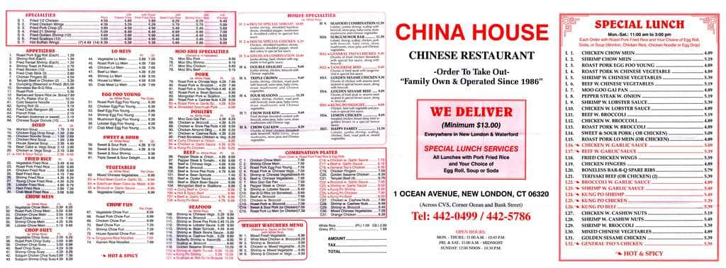 Chinese Food Ocean Ave New London Ct