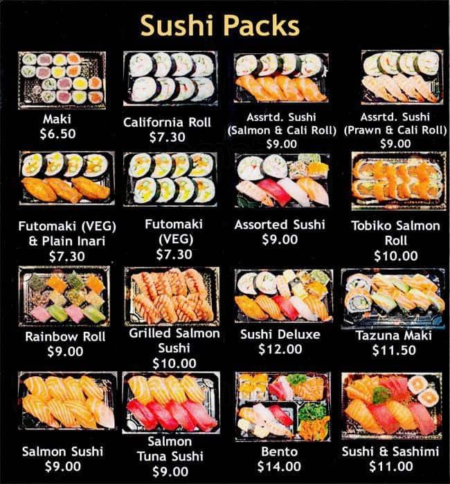 Hoshi Sushi Menu Menu For Sushi Carnegie