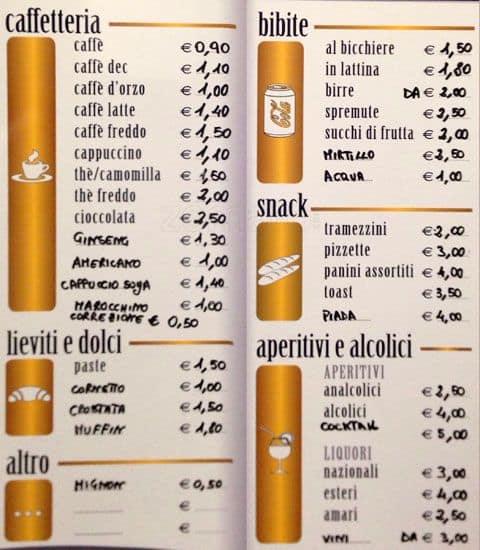 Il magnifico a roma foto del menu con prezzi zomato italia for Il rosso bologna menu