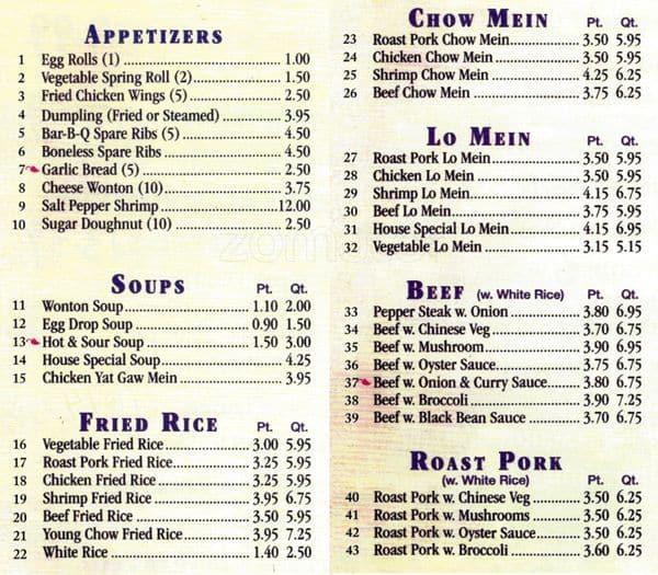 Lincoln Park Restaurant Menu