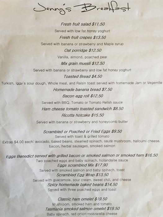Homestead Restaurant Cairns Menu