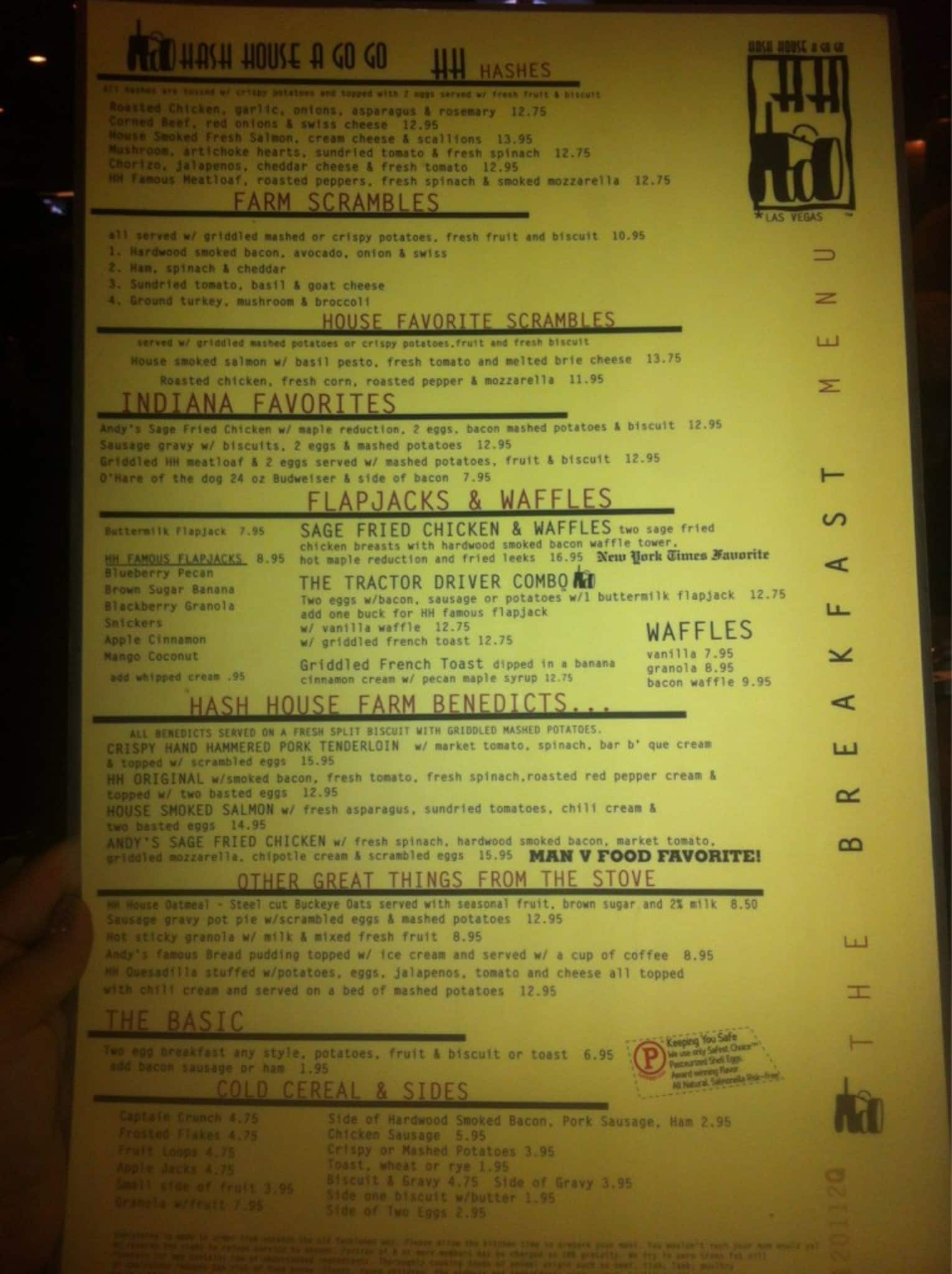 Hash House A Go Go Menu