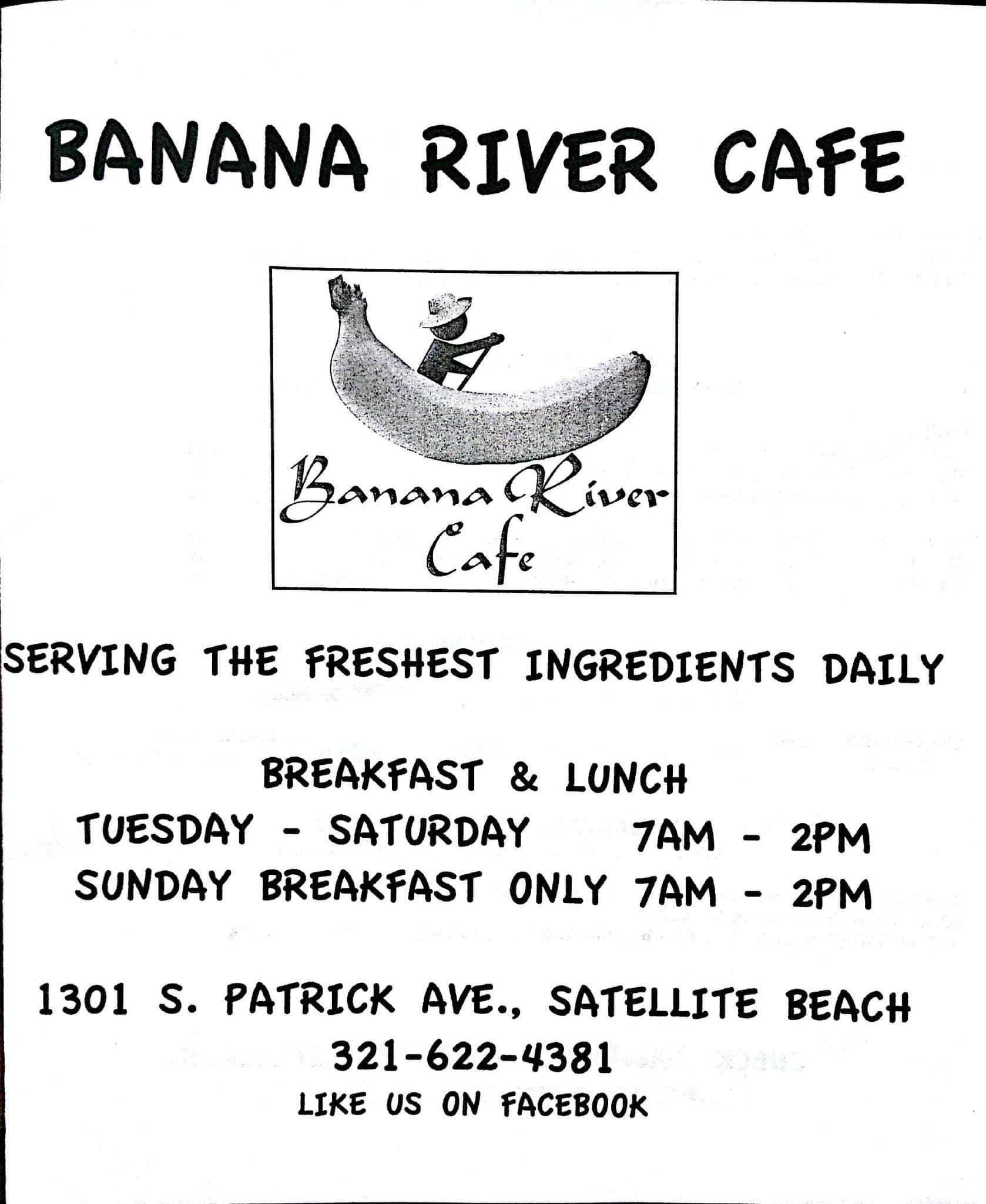 Banana River Cafe Satellite Beach Menu