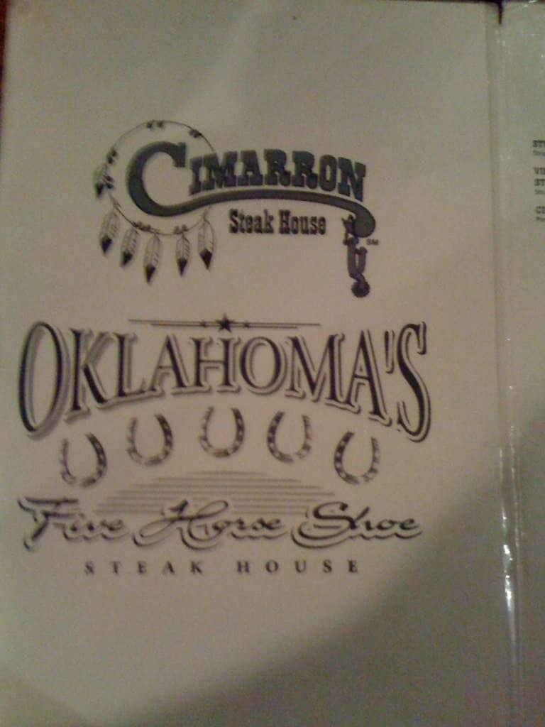 Cimarron Steak House Menu Menu For Cimarron Steak House Inner City