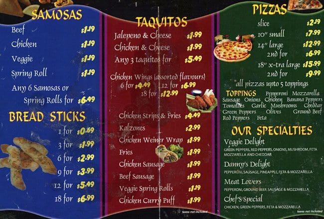 screamer menu
