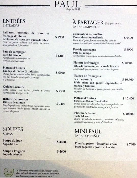 Cafe Vida Restaurant Menu