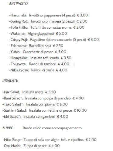 Kingyo Menu Menu For Kingyo Repubblica Milano Zomato Italy