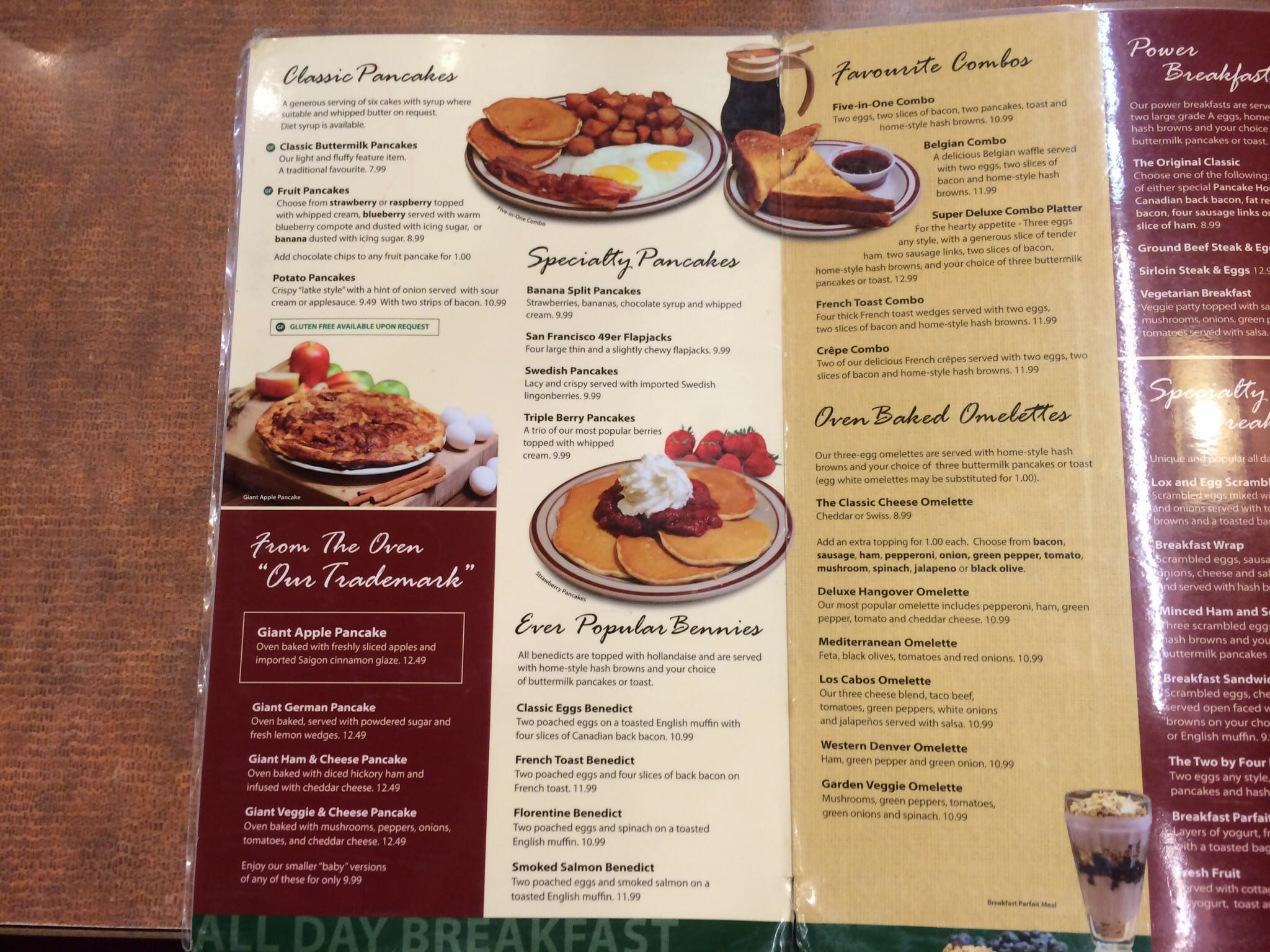 Original Pancake House Menu Menu For Original Pancake
