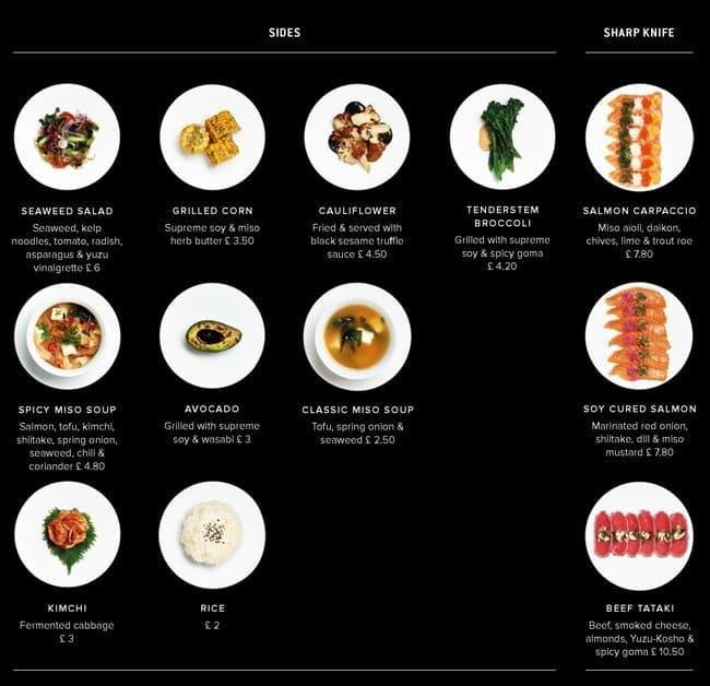almonds and sushi menu at sticksnsushi 11 henrietta st restaurant prices