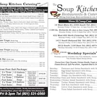 scanned menu for soup kitchen - Soup Kitchen Slc