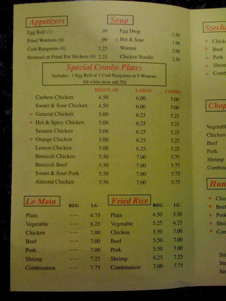 photo relating to Pita Pit Printable Menu named China Wok Menu, Menu for China Wok, Springfield, Springfield
