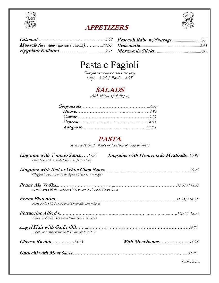 Zipz\'s NY Pizza & Italian Kitchen Menu - Urbanspoon/Zomato