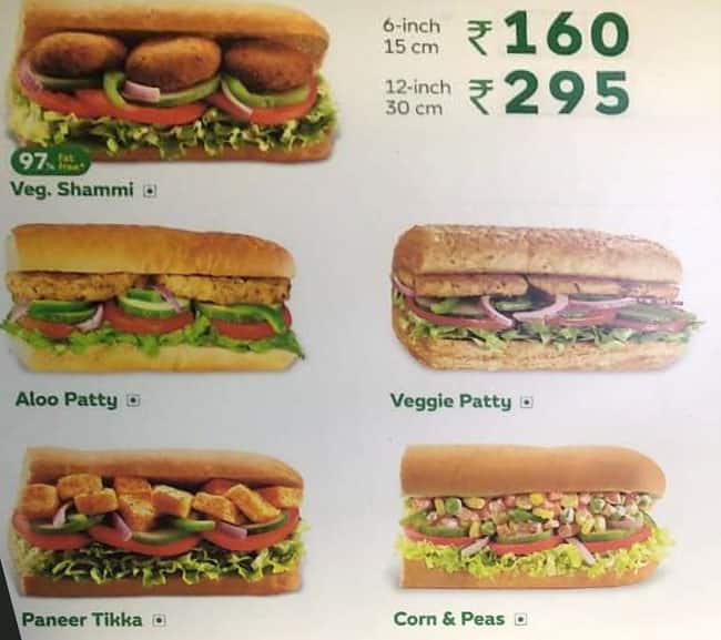 subway menu menu for subway urban estate patiala zomato rh zomato com