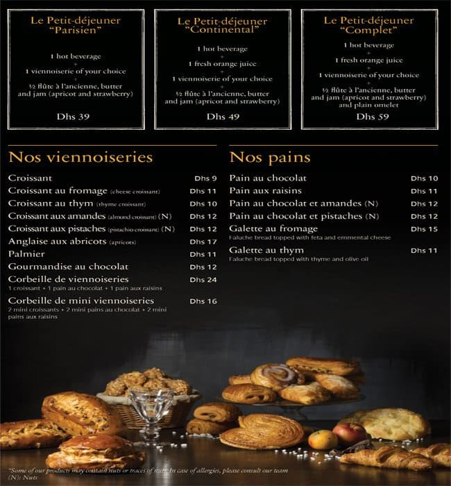 Paul Restaurant Menu Doha