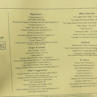 The Capital Grille Menu Menu For The Capital Grille Garden City