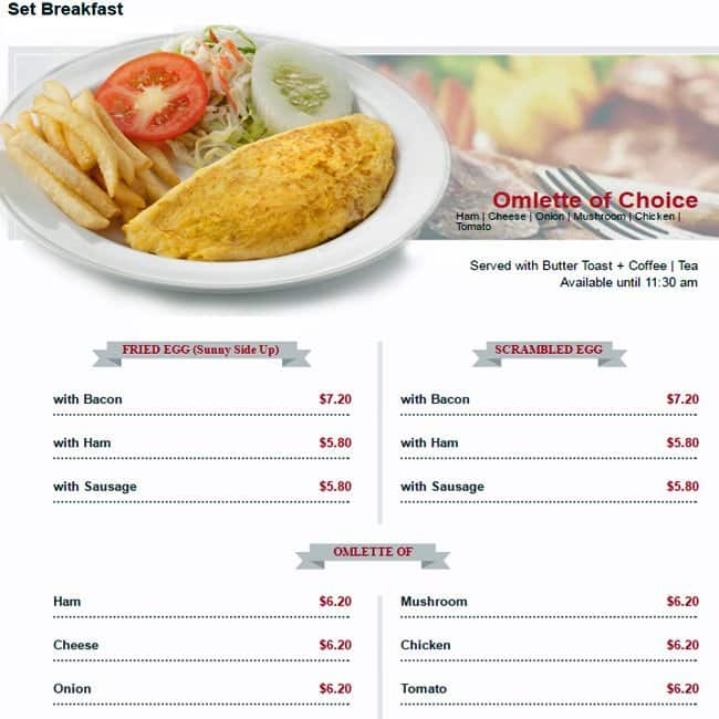 Hanis Cafe Singapore Menu