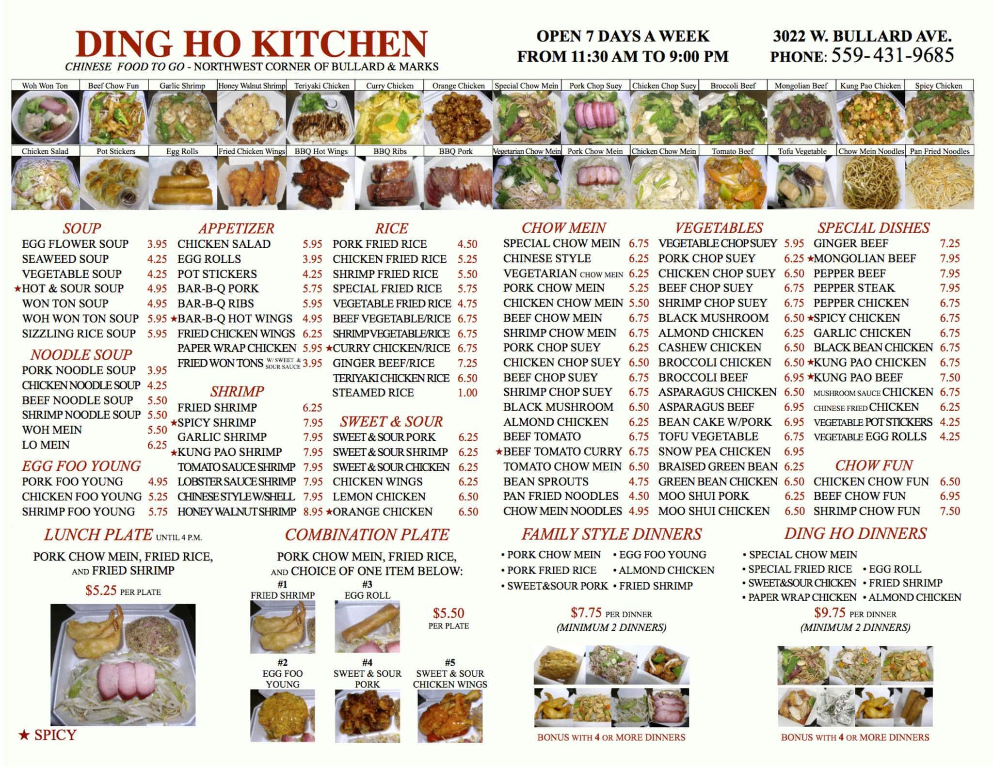 Ding ho kitchen menu menu for ding ho kitchen west for W kitchen verbier menu