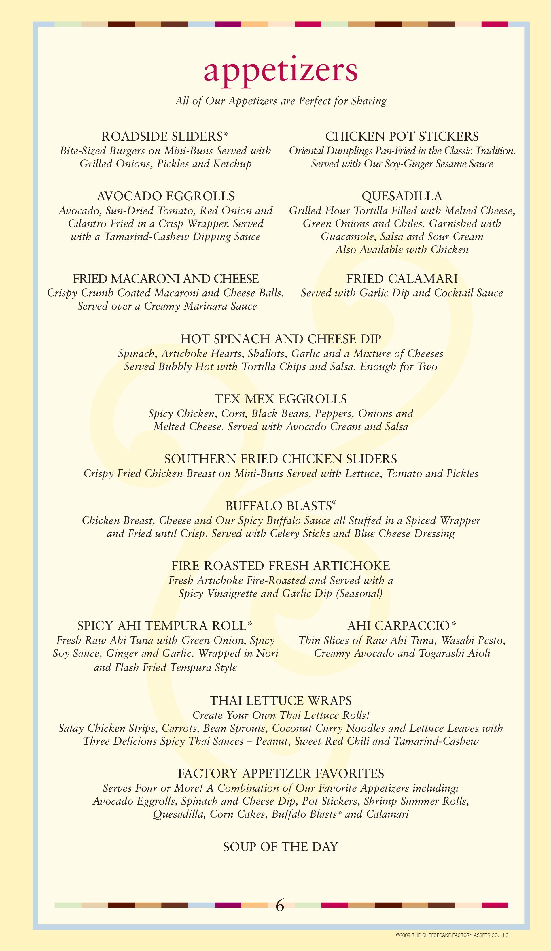 Buckhead Restaurant Menu