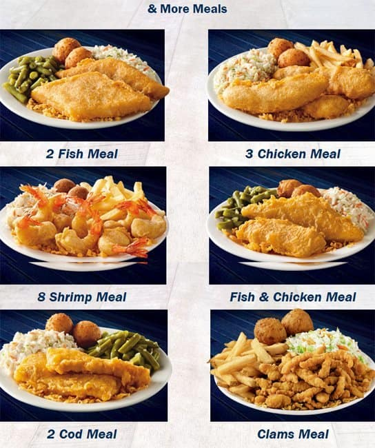Highlights for Long John Silver's. Seafood is ready for dinner and lunch from coast to coast thanks to the popular fast-food destination Long John Silver's. Not only is it easy to find tasty fried fish at thousands of locations but it's also amazingly low-priced.