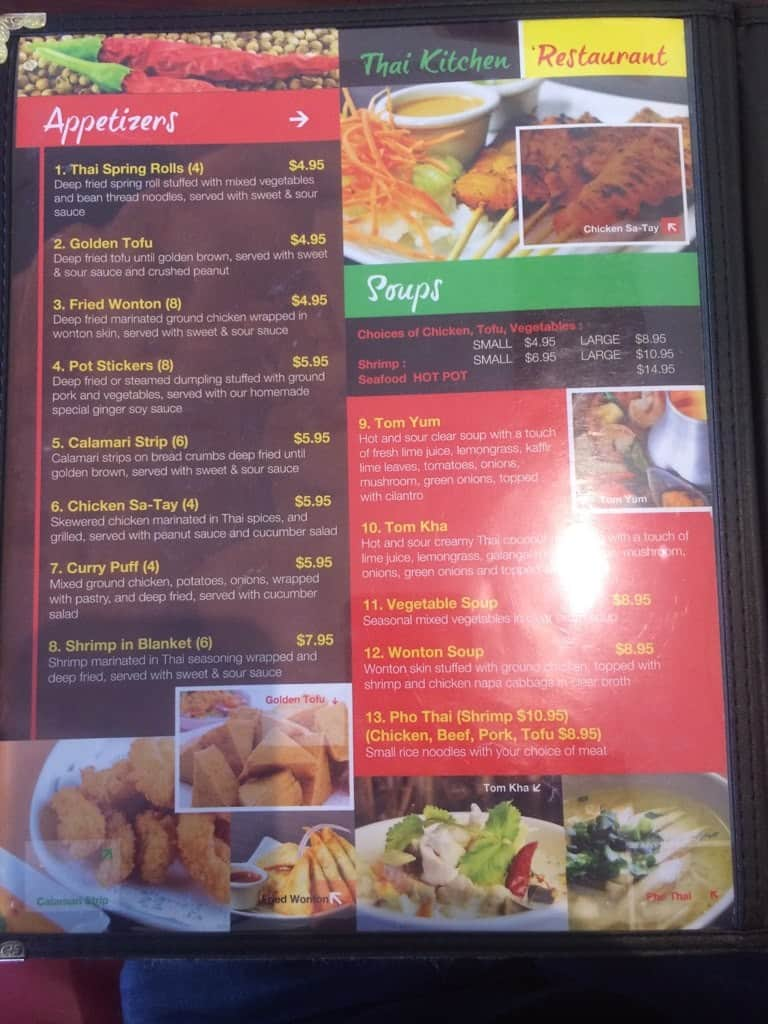 Thai Kitchen Idaho Falls Id Menu