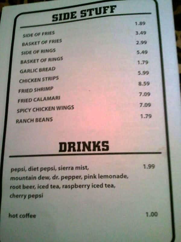 Menu At Dog House Grill Pub Bar Fresno
