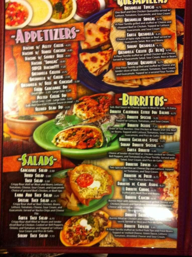 Cielito Lindo Mexicano Restaurant Menu