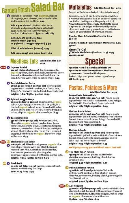 image relating to Jason's Deli Printable Menu called Menu at Jasons Deli cafe, Lake Mary