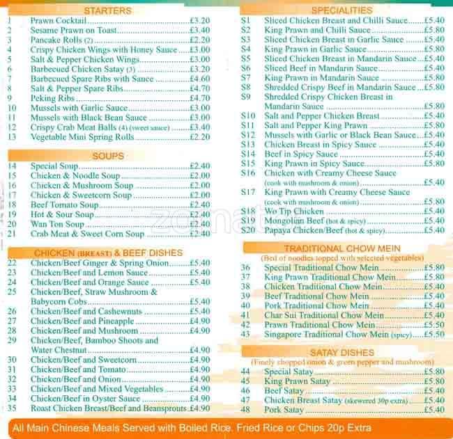 orchid garden menu menu for orchid garden possilpark glasgow zomato uk