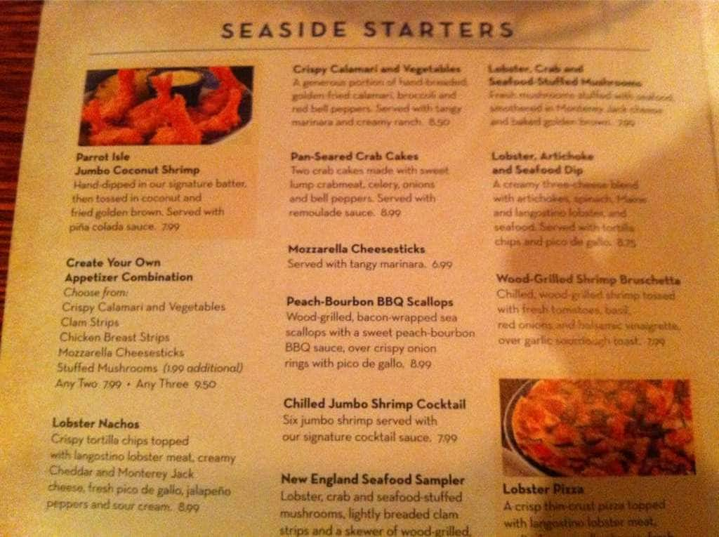 red lobster drink prices