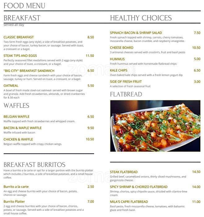 cafe mila menu, menu for cafe mila, west plano, plano - urbanspoon