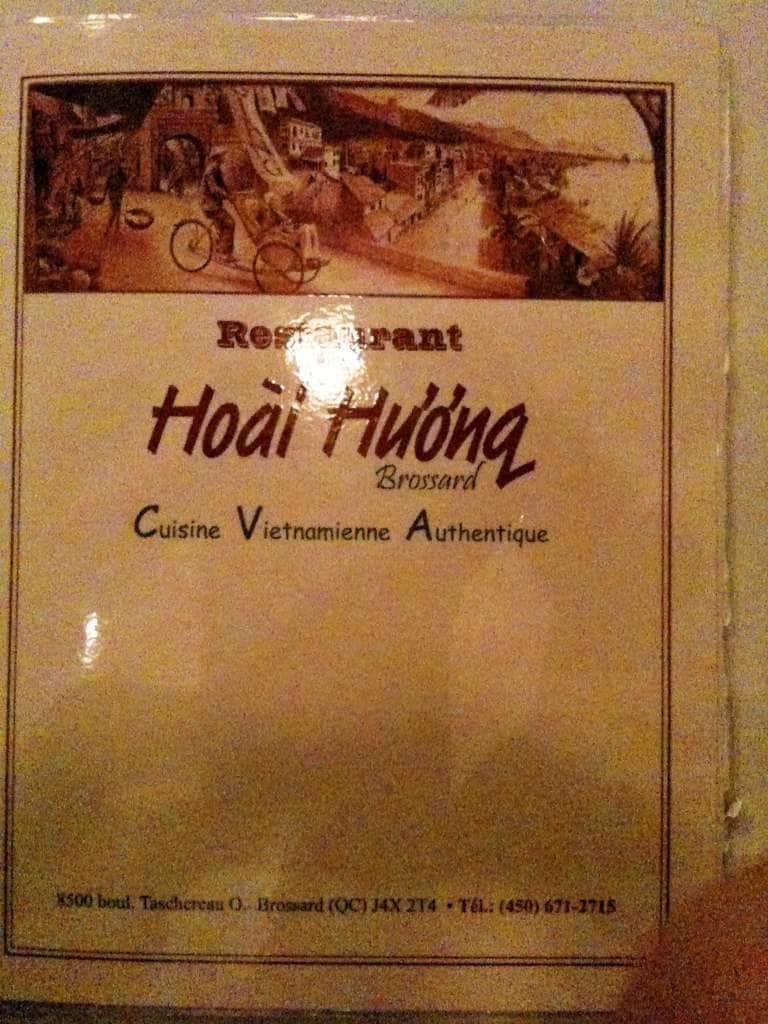 Hoai Huong Restaurant Menu