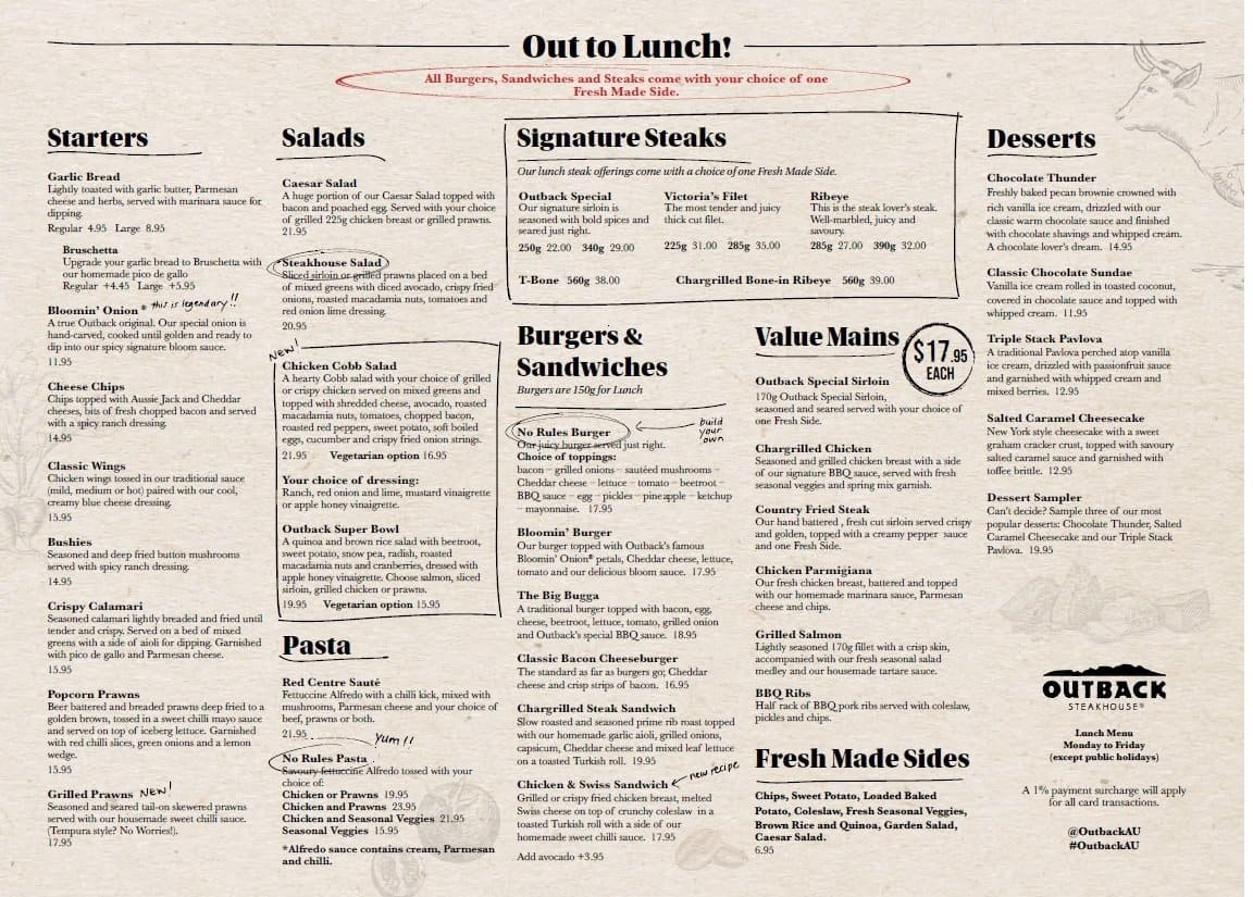 photograph regarding Outback Printable Menu titled Outback Steakhouse Menu Pdf Environment of Reference