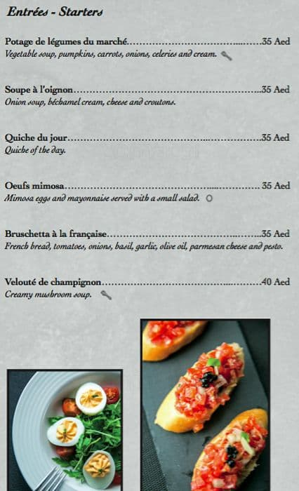 Favorit La Carte Menu, Menu for La Carte, Jumeirah Lake Towers (JLT  OK76
