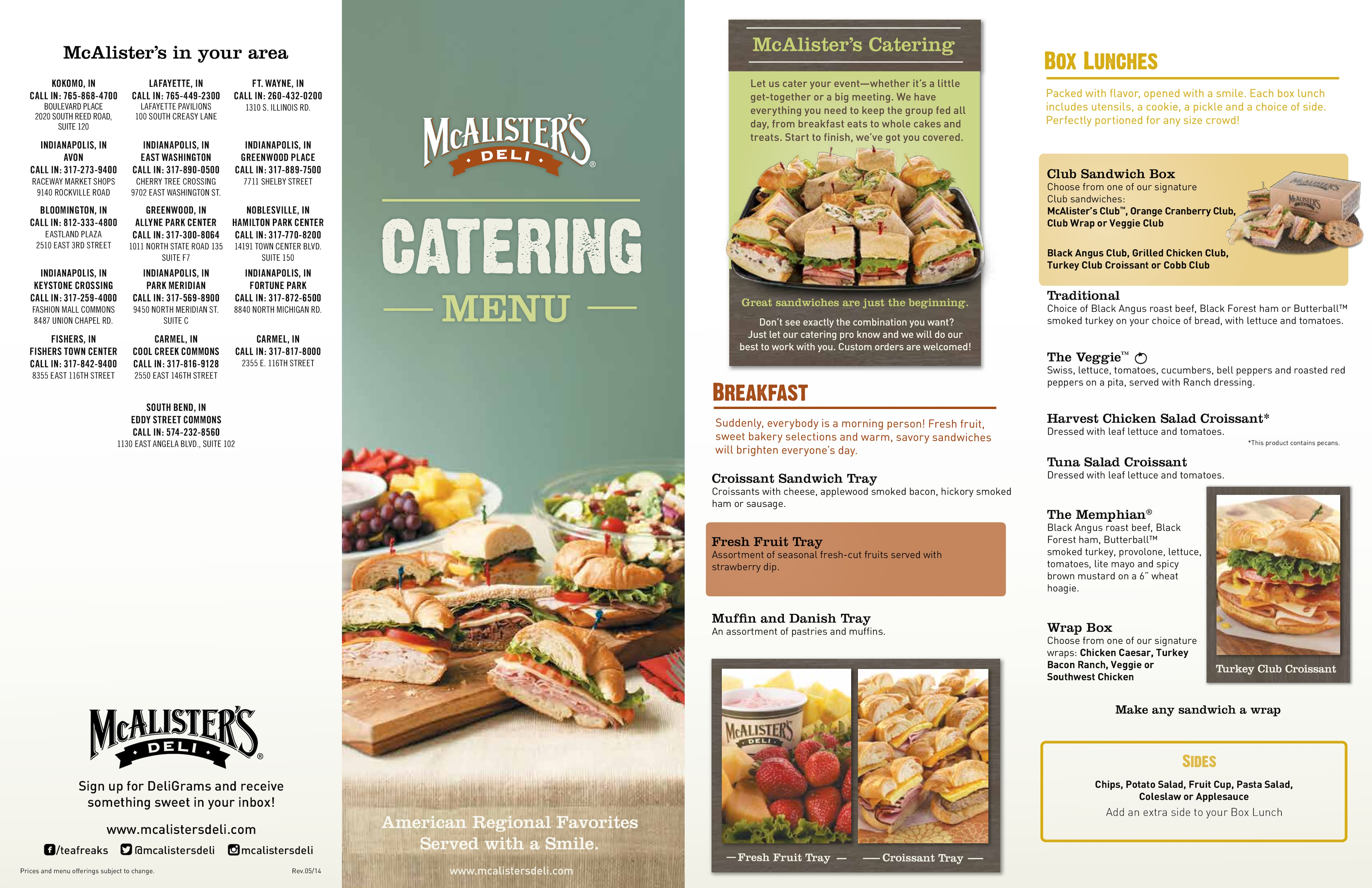 This is a photo of Genius Mcalisters Deli Printable Menu